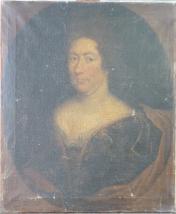 Portrait d'Anne Marie Louise d'Orléans Duchesse de Montpensier dite «la Grande Mademoiselle» (1627 - 1693) - Avant restauration