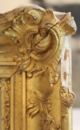 Reprise des moulures d'un cadre doré - avant restauration