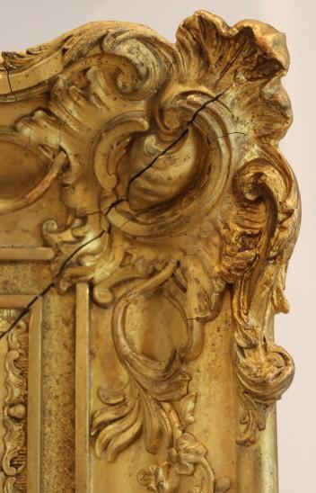 Reprise des moulures d'un cadre doré - après restauration