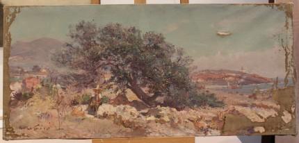 Maxime Noiré (1861 - 1927), Peintre Orientaliste - Avant restauration