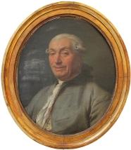 Portrait d'homme Anonyme (en cours d'attribution) c. 1780 Huile sur toile (65 x 48 cm) (Coll. particulière) - Avant restauration